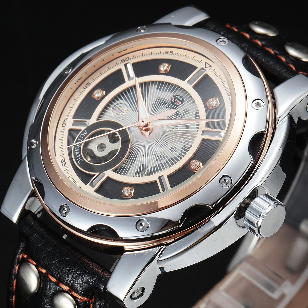 FORSINING Sport Diamond Style Small Dial Skeleton Design Automatic Mechanical Watch Men Watches Top Brand Luxury Men Sport Watch<br><br>Aliexpress