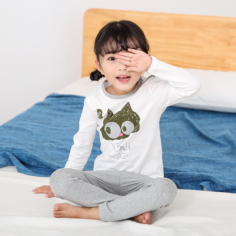 Kids Pajama Sets Boys Owl Cartoon Pajamas Children Cotton Casual Family Sleepwear Children'S Pajamas Girls Cute Pajamas