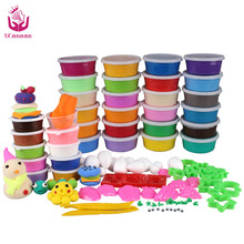 24colors DIY Soft Polymer Modelling Clay set with tools Air-dried good package FIMO Effect Blocks Special Toys Gift for Children