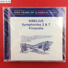 BINYEAE- new CD seal: 1000 years of classical music Sibelius Symphonies 2 & 7 Finlandia CD light disk [free shipping](China)