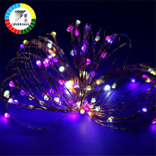 Coversage Christmas Tree Decoration Xmas Garland 10M 100 Leds Battery String Copper Wire Fairy Curtain Lights Outdoor Indoor