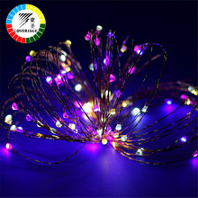 Coversage Christmas Tree Decoration Xmas Garland 10M 100 Leds Battery String Copper Wire Fairy Curtain Lights Outdoor Indoor(China)