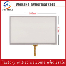 New 4.3 inch 4Wire Resistive Touch Panel Digitizer Screen For Oysters Chrom 1000 GPS Free shipping