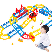 Kids Children Assembly Toy Track Car Excavator Railway Parking Construction Cars Truck Toys For Boys Kids Gift Car Model Vehicle(China)