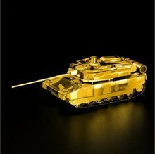 Free Shipping Metal Works DIY 3D Laser Metal Models Assemble Miniature Metal Model Metallic Nano Leclerc MBT tank model Puzzle