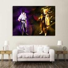 Canvas HD Prints Pictures Home Decor Living Room 1 Piece/Pcs Naruto Sasuke Paintings Wall Art Animation Poster Framework