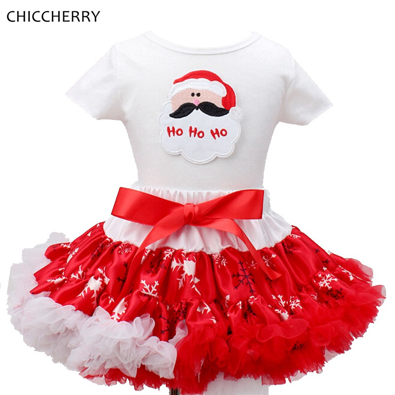 Santa Claus Toddler Christmas Costume for Girls Infant Lace Tutu Skirt Set With Cotton Top Vetements Children Girl Clothing<br><br>Aliexpress