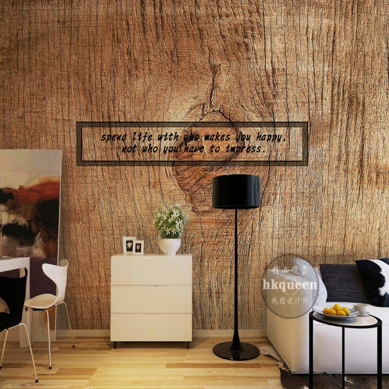 Wood Texture Rings Continental Retro nostalgia hand painted wallpaper bedroom living room lobby wallpaper mural<br><br>Aliexpress