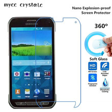 Nano Explosion-proof (Soft Glass) Clear Screen Protector Front Protective Film for Samsung Galaxy S5 Active G870(China)