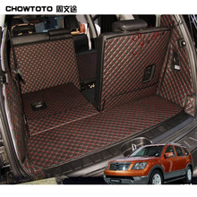 CHOWTOTO AA Auto Trunk Mats For KIA Borrego 7seats Trunk+back Seat Mats Durable Carpets for Borrego 7Seats Lagguge Pad Car Floor(China)