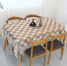 Free shipping pastoral crochet knitting embroidery tablecloth two colors crocheted tea table cloth/piano cover/sofa cover