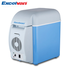 Excelvan Portable 7.5L Mini Car Refrigerator Multi-Function Home Travel Cooler Freezer Warmer Refrigerator Fridge Auto Supply