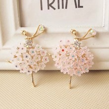 3pcs per lot Min.$15 (Mixed Order)5.5cm*3.5cm Cell Phone Case DIY Charms Alloy Ballerina Girl Decoration AC061