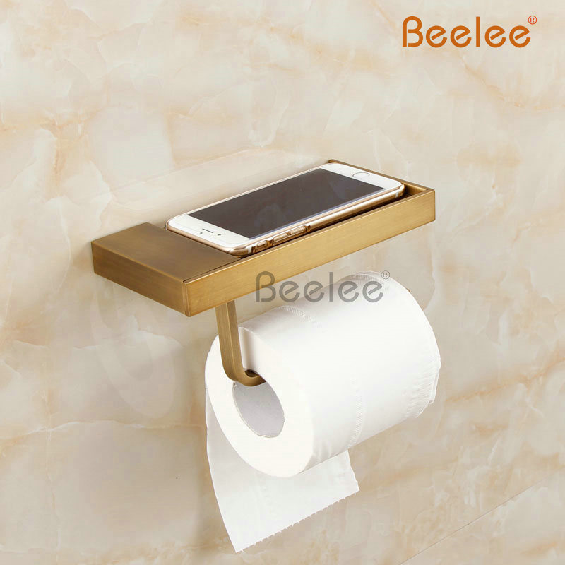 Beelee BA6210A  Antique Brass Wall-mounted Toilet Roll Holder rack paper holder<br>
