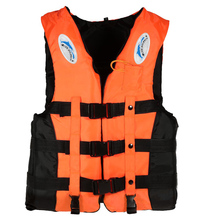 1PCS XL Professional Swimwear Polyester Adult Safety Life Jacket Vest Survival Suit with Whistle for Swimming Drifting 3 Colors(China)