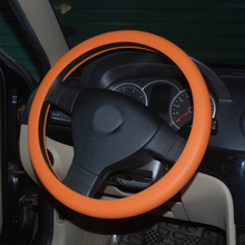 16 Car Styling Silicone Steering Wheel Cover For FIAT 500 Coroma Panda Idea Freemont Cross Uno Palio Tipo Punto EVO Sedici Linea