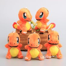 "Cute 5 Pcs/Lot Dolls Charmander Plush Pendant Cartoon Smal Plush Keychain Stuffed Toy Dolls 4"" 10 CM(China)"
