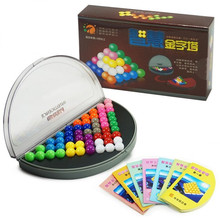 High Valued 3D 2D Beads Puzzle IQ Logic Mind Brain Teaser Kids Educational Game Toys for Children 638 Challenges
