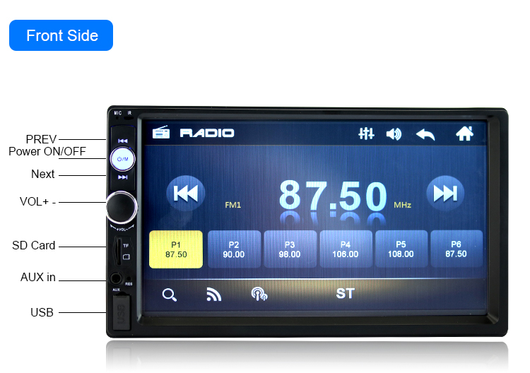 New High QualityCar7010B 2DIN 7Inch Bluetooth Audio In Dash Touch Screen Car Audio Stereo MP3 MP5 Player USB With Remote control<br><br>Aliexpress