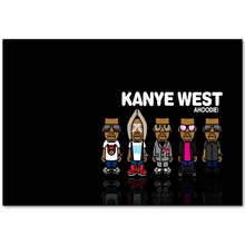 A998 Kanye West Rap Hip Hop Grammy Music Star Singer Top A4 Art Silk Poster Light Canvas Painting Print Home Decor Room Wall Pic(China)