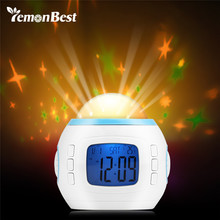 LemonBest Digital Projecting Clock Color Gradual Change Star Music LED Display Alarm Clock with Backlight for Kid Night Light(China)