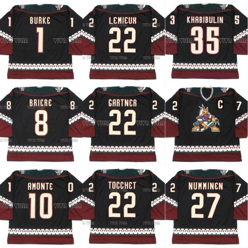 Ice Hockey Jersey 27 NUMMINEN 10 AMONTE 35 KHABIBULIN 1 BURKE 8 BRIERE CLAUDE LEMIEUX GARTNER TOCCHET Stitched Throwback Jersey<br>