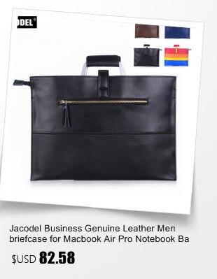 Jacodel Fashion Women Genuine Leather Laptop Sleeve Bag for Macbook Surface iPad Computer bag for Women's Handbags Messenger Bag