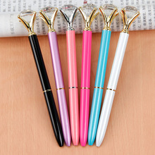 Cute Kawaii Crystal Diamond Metal Ballpoint Pens Stationery Ball Pen Caneta For Kids Gift School Supplies Free Shipping 2617(China)
