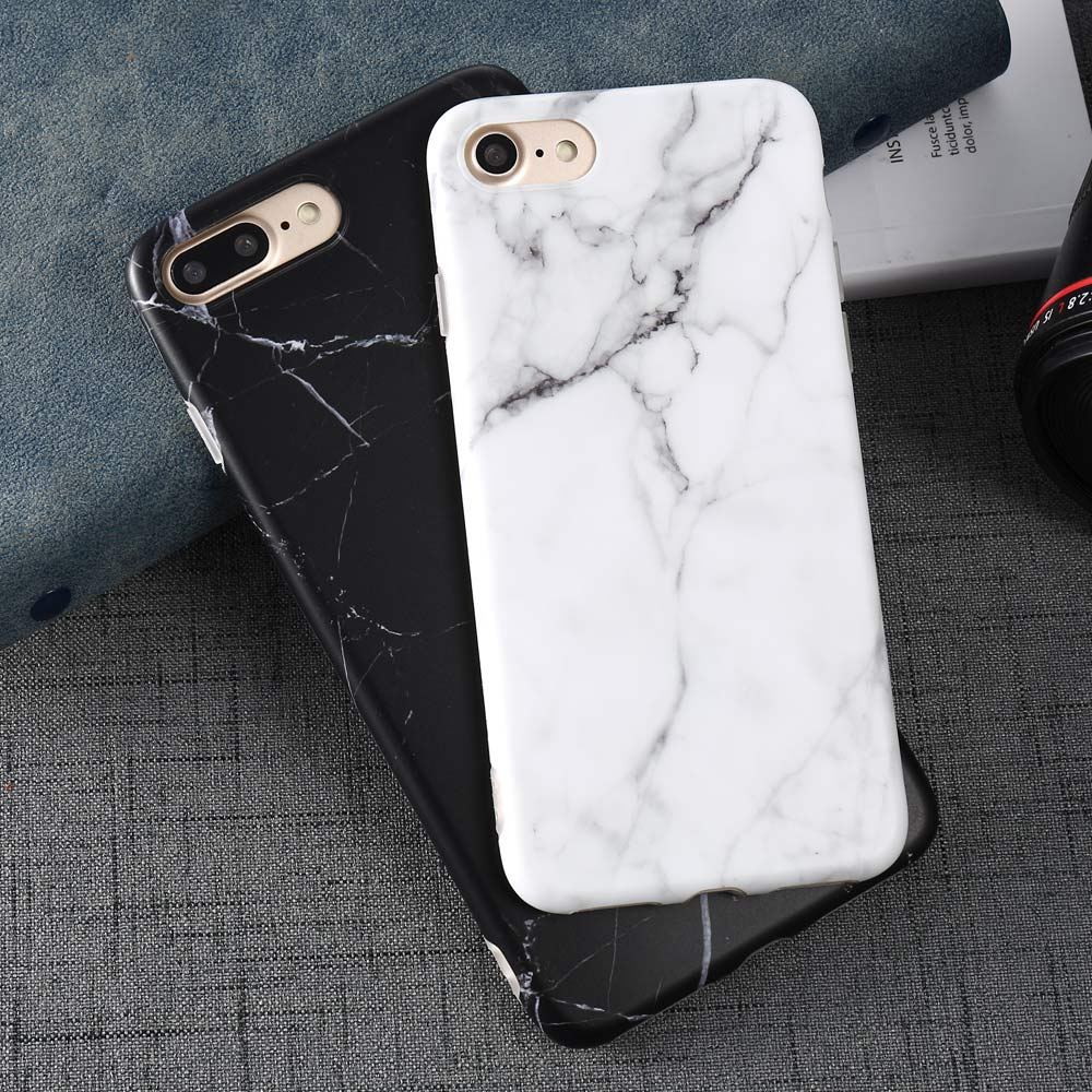 Luxury Marble Pattern i 7 Phone Cover Case For iPhone 7 Plus Soft TPU Back Cover For iPhone7 Plus Black Phone Accessories Coque (18)