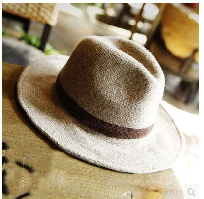The Korea British winter leisure woolen hat folding light jazz hat female cap<br>