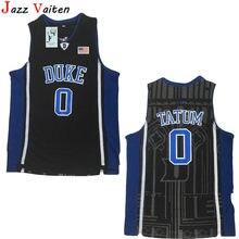 9105c4da96b Jazz Vaiten 1 Kyrie Irving 0 Jayson Tatum College Jersey Duke Blue Devils  Men Basketball Jerseys For Sport Fans All Stitched