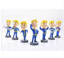 "5pcs/lot fallout 4 5"" vault boy bobblehead figure complete series 1 7-pack set fallout figure * In store * best gift fallout"