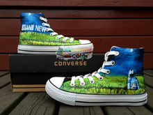 Converse Chuck Taylor Men Women Sneakers Brand New Deja Entendu Design Hand Painted Shoes High Top Best Christmas Gifts(China)