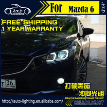 Car Styling Head Lamp for Mazda 6 Headlights 2014-2016 Atenza LED Headlight DRL Daytime Running Light Bi-Xenon HID Accessories