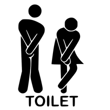 Funny Toilet Entrance Sign Decal Vinyl Sticker For Shop Office Home Cafe Hotel Home Decor Wall Stickers