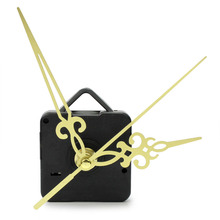 Modern Quartz Wall Clock Mechanism Movement Repair Replacement Parts Tools Kit Set with Gold Hands DIY