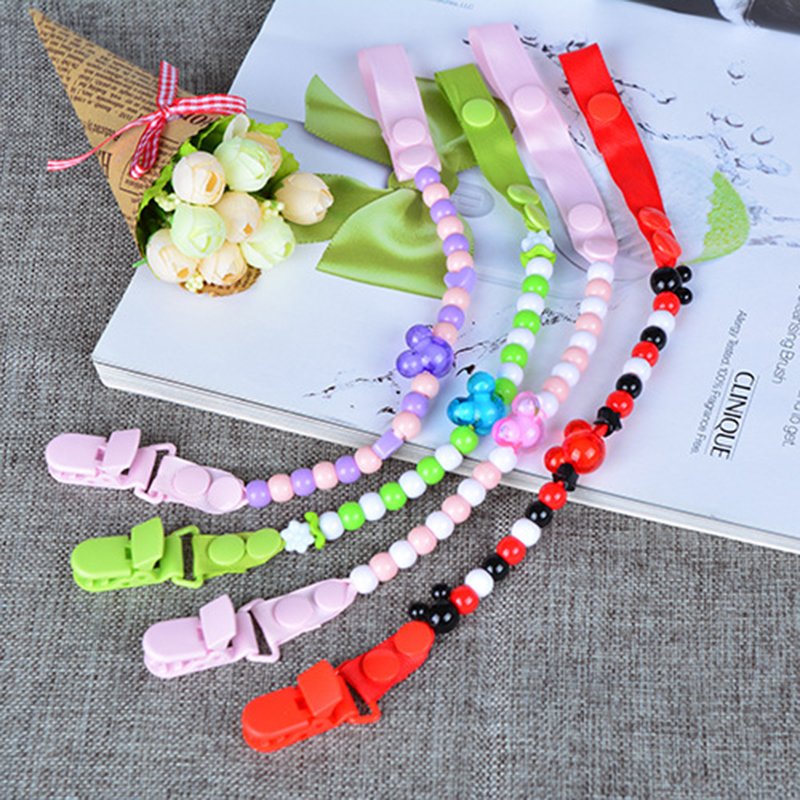 New Baby Pacifier Clip Chain Ribbon Holder Design Soother Pacifier Clips Leash Strap Nipple Holder Infant Feeding BNZ16