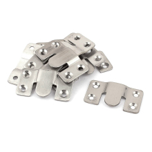 Furniture Sectional Interlock Style Sofa Connector 10pcs Silver Tone(China)