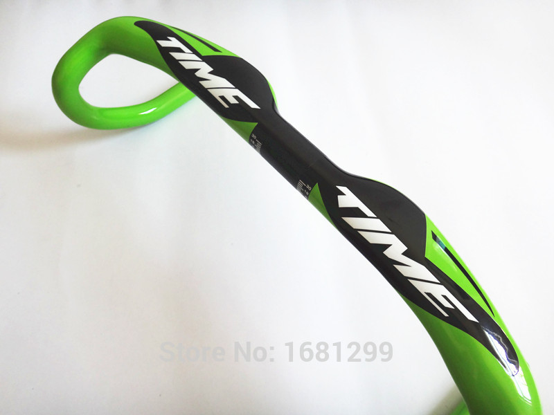 Newest green road UD full carbon fiber bike handlebar carbon bicycle handlebar road light parts 31.8*400/420/440mm Free Shipping<br><br>Aliexpress