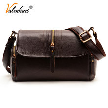 Valenkuci Women Handbag Leather Bag for Women Messenger Bags fashion Crossbody Bag For Older Women Vintage Retro Tote Bag SD-803
