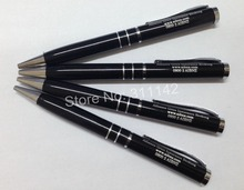 New design gift pen promotion Metal Black Roller Writing Pen!! can print client logo 500pcs/lot