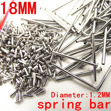 1000PCS / lot watch repair tools & kits 18MM spring bar watch repair parts Stainless steel diameter 1.2mm -SP010