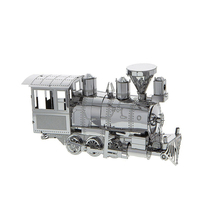 New Railway Engine 3D Metal Jigsaw Model DIY Steam locomotive Jigsaws Adult/Children Gifts Toys Retro Train