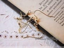 wholesale 200PCS Gold plated earring hooks, jewerly finding earring wire diy jewelry accessory