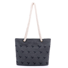 Canvas bag female shoulder bag fashion print art simple casual new portable  women shopping bag with thick rope handle