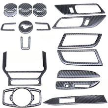Adapt to ford mustang accessories stickers emblems mustang GT Center Console carbon fiber car interior trim 2015-2016-2017