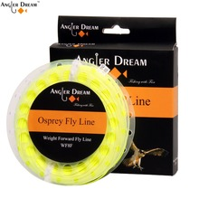 WF 1 2 3 4 5 6 7 8 9F Weight Forward Floating Fly Fishing Line With 2 Welded Loops Orange Green Yellow BLue Pink Fly Line Spool(China)