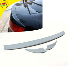 A-BT style ABS primer 3pcs/set A6 C6 car back boot spoiler wing auto rear trunk lip spoiler for Audi A6 c6 2005-2011