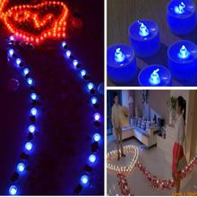 10pcs/lot Blue Light LED Flameless Candle Wedding Party Dinner(China)