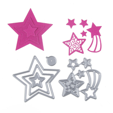 Nice Stars DIY Cutting Dies Stencil Scrapbook Album Art Paper Card Embossing Craft Template Scrapbooking Ornament